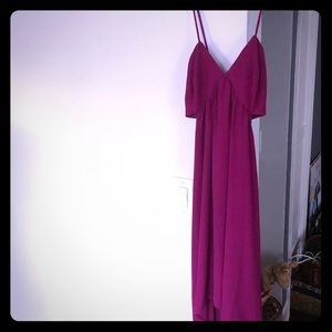 Express high to low cut out dress